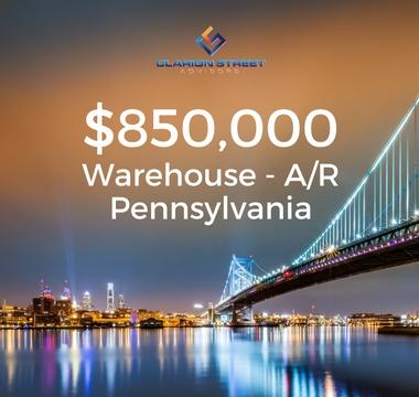 $850000 Warehouse AR | PA