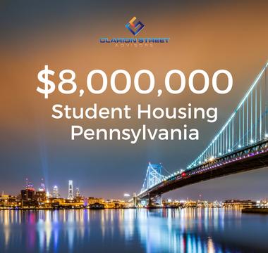 $8000000 Student Housing | PA
