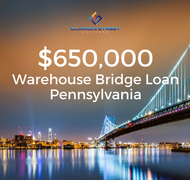 $650000 Warehouse Bridge Loan | PA