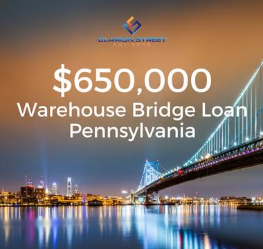 $650000 Warehouse Bridge Loan | PA